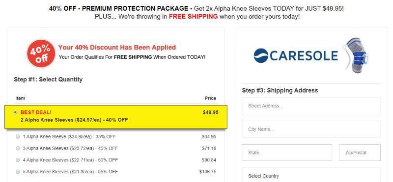 Buy Caresole Knee Sleeves