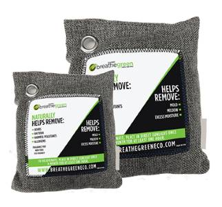 Breathe Green Charcoal Bags