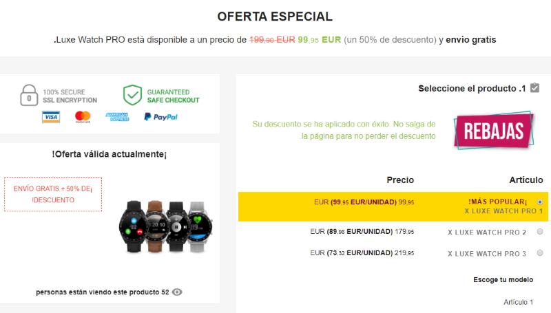 comprar Luxe Watch Pro