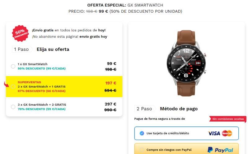 comprar GX Smartwatch