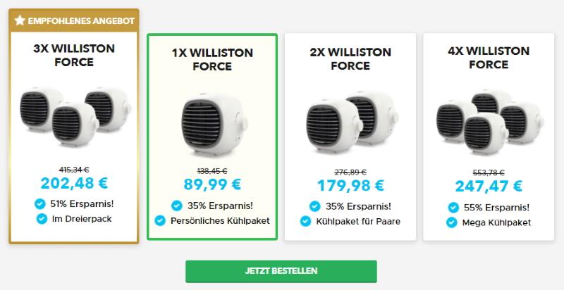 Kaufe Williston Force Portable AC