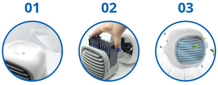 Williston Forc Portable AC Aufbau