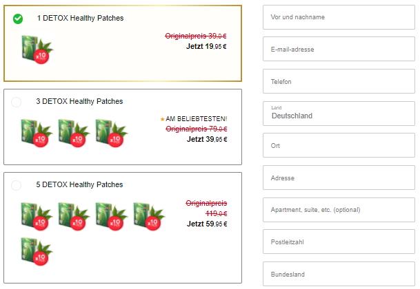 Detox Healthy Patches kaufen