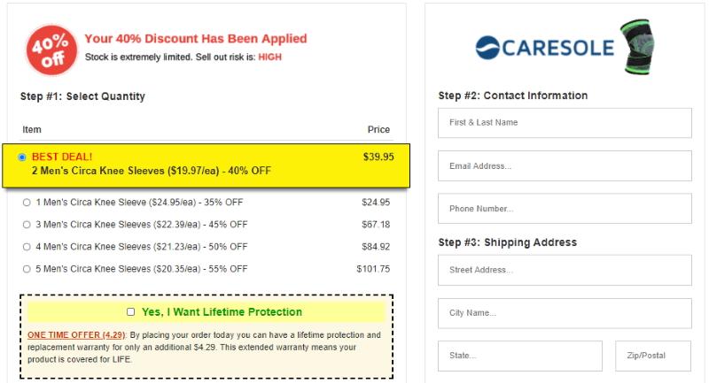 buy Caresole Circa Knee